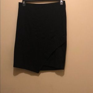 Black skirt with side cut